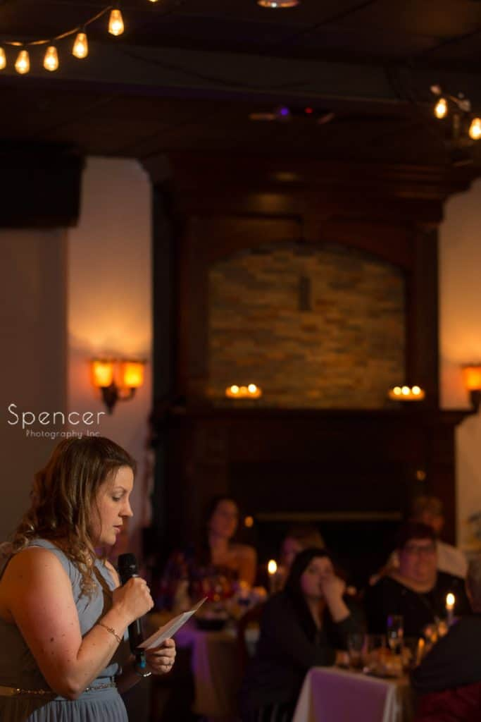 matron of honor speech at Vosh wedding reception