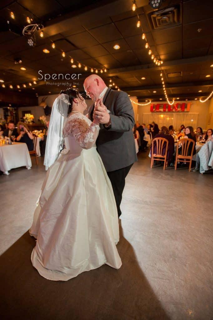 first dance at wedding reception at Vosh Lakewood