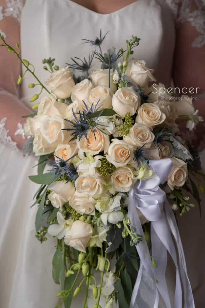 wedding bouquet of bride at wedding in Lakewood