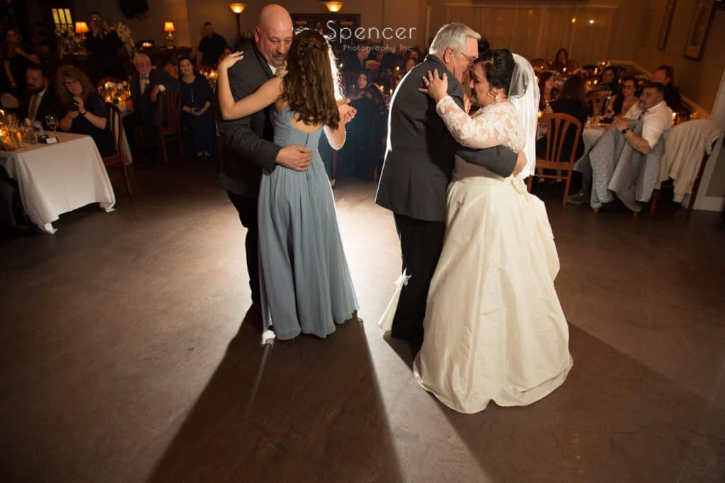 group dance at Vosh Nightclub wedding reception