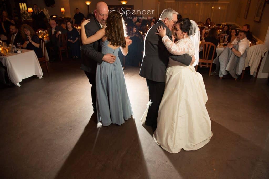group dance at Vosh Nightclub wedding reception