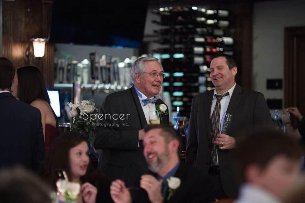 brides dad at reception at Vosh