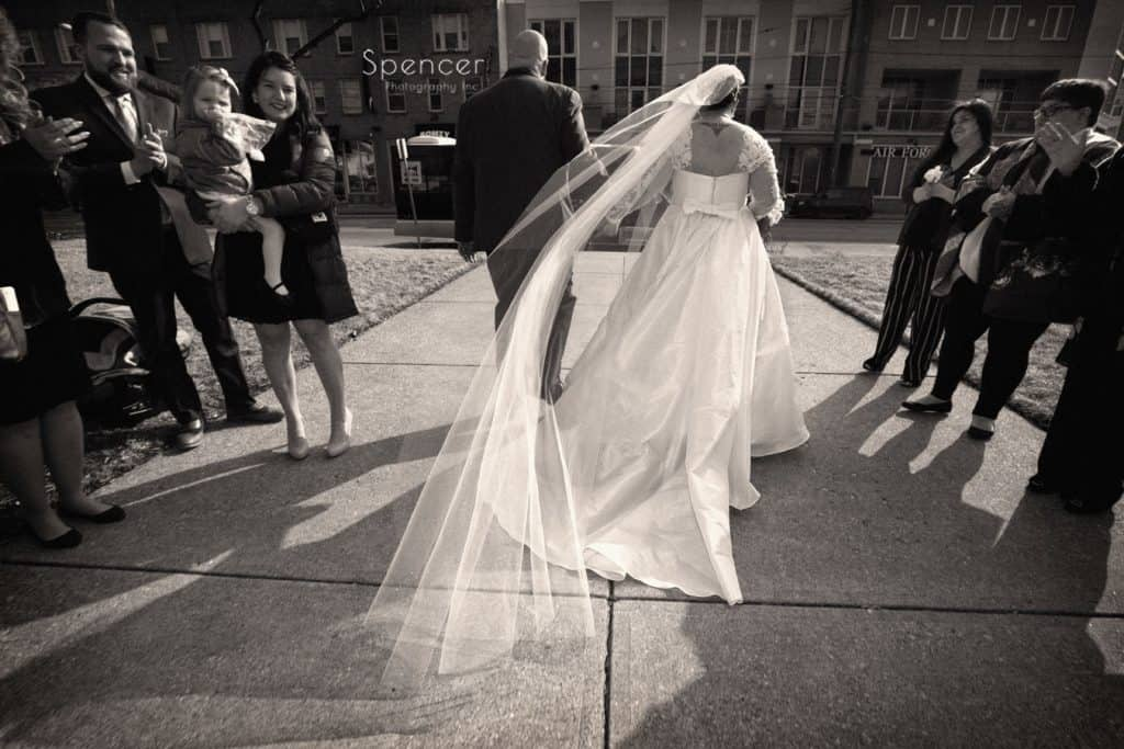 bride and groom exiting wedding ceremony at Lakewood United Methodist Church