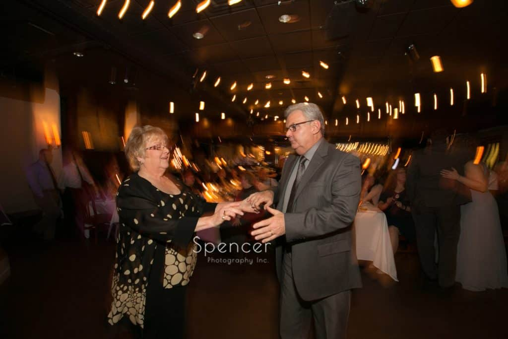 couple dancing at wedding reception at Vosh Lakewood