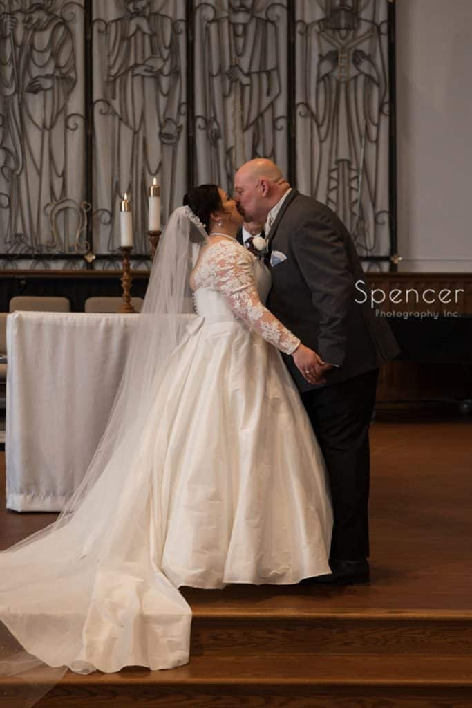 first kiss after wedding day in Lakewood