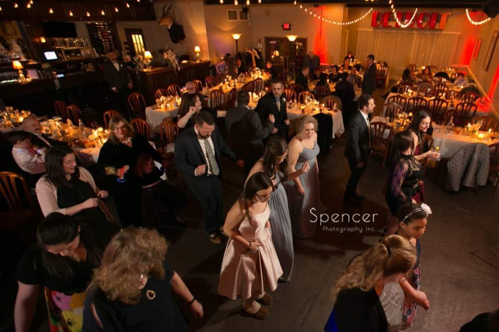wedding guests dancing at Vosh reception