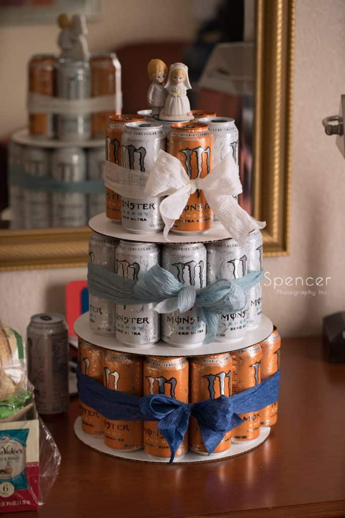 monster energy drink cake tower