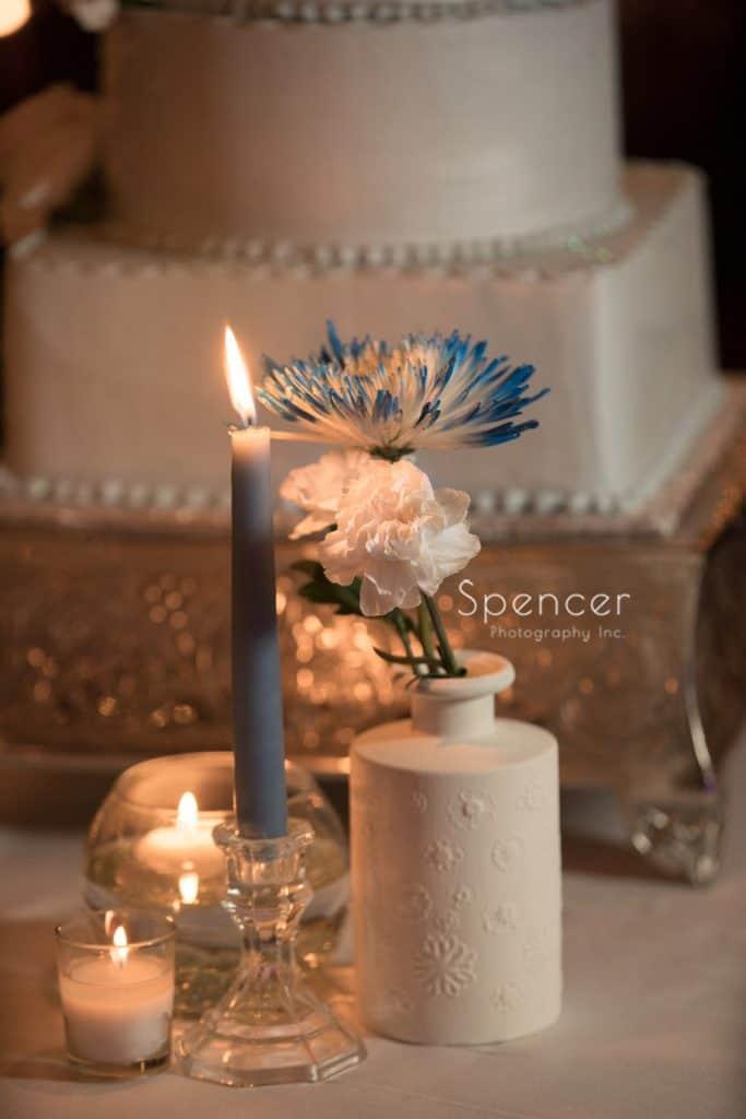 flower detail at reception at Voch Nightclub