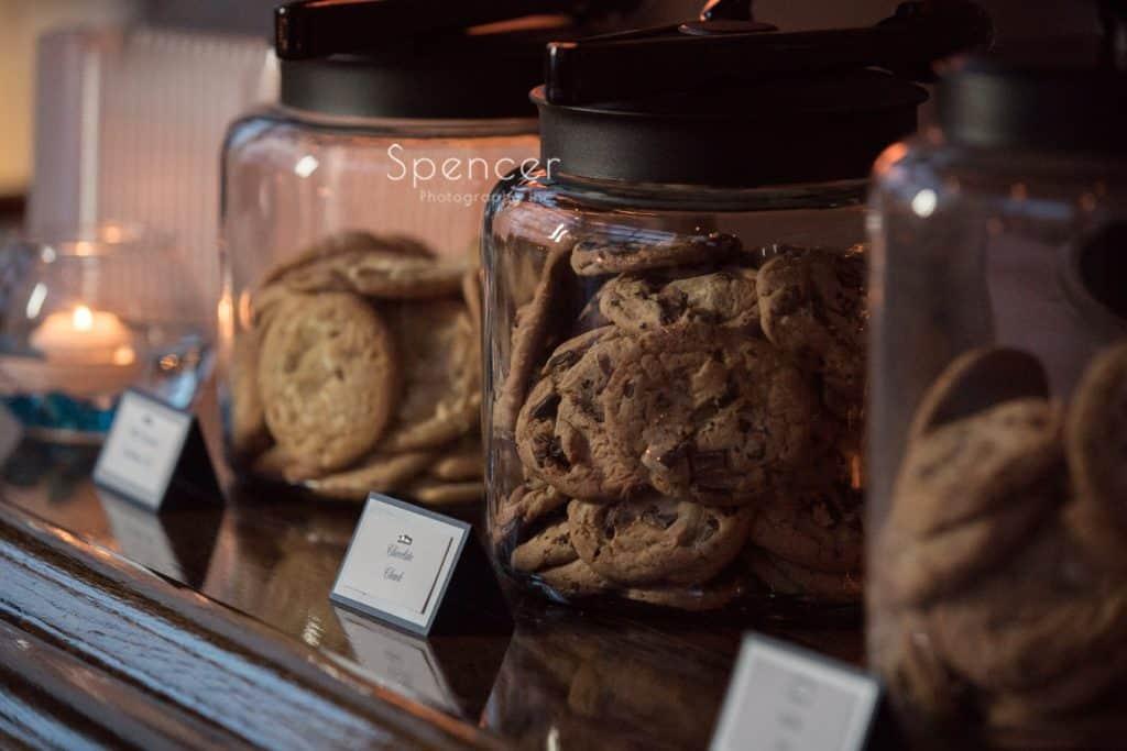 cookies at wedding reception at Vosh