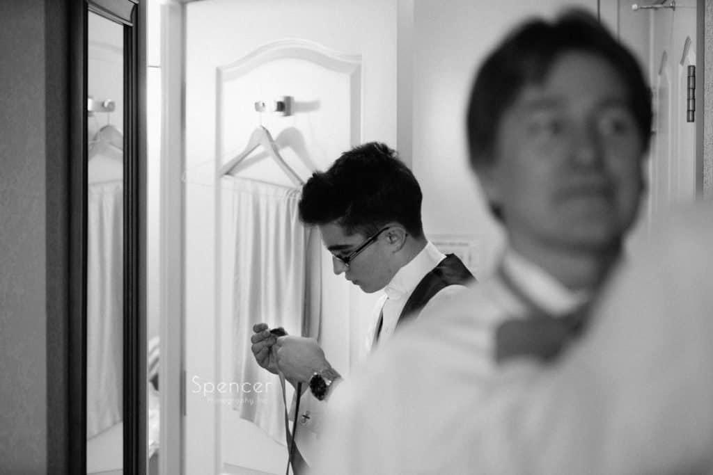 groomsmen preparing for wedding day in Lakewood