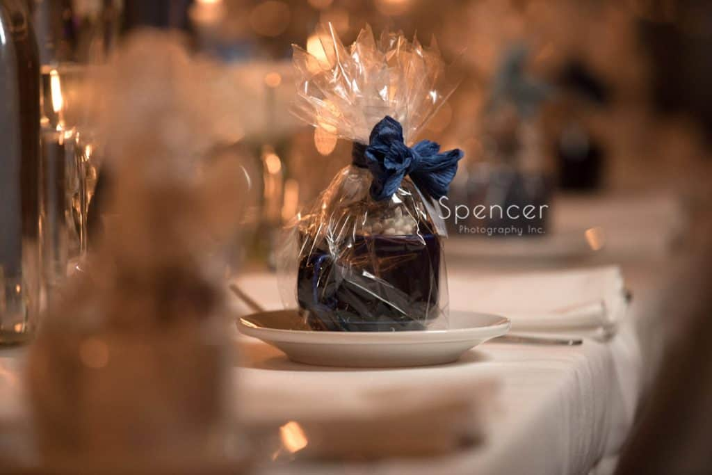 wedding reception favor at Vosh wedding reception