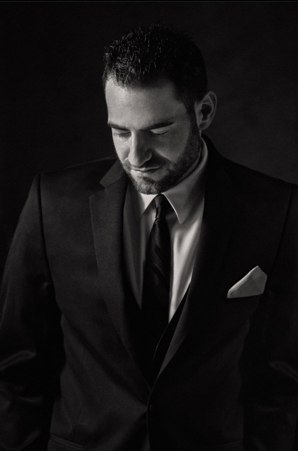 Black and white picture of Cleveland groom