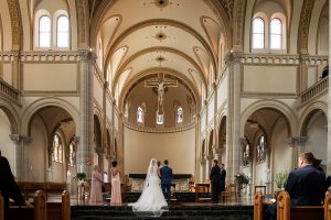 wedding ceremony at St. Vincent Basilica Pittsburgh