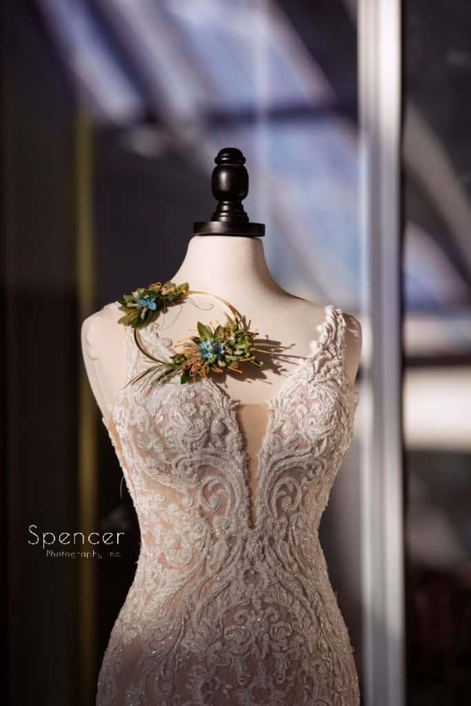 Wedding dress manniquen at Akron Art Museum