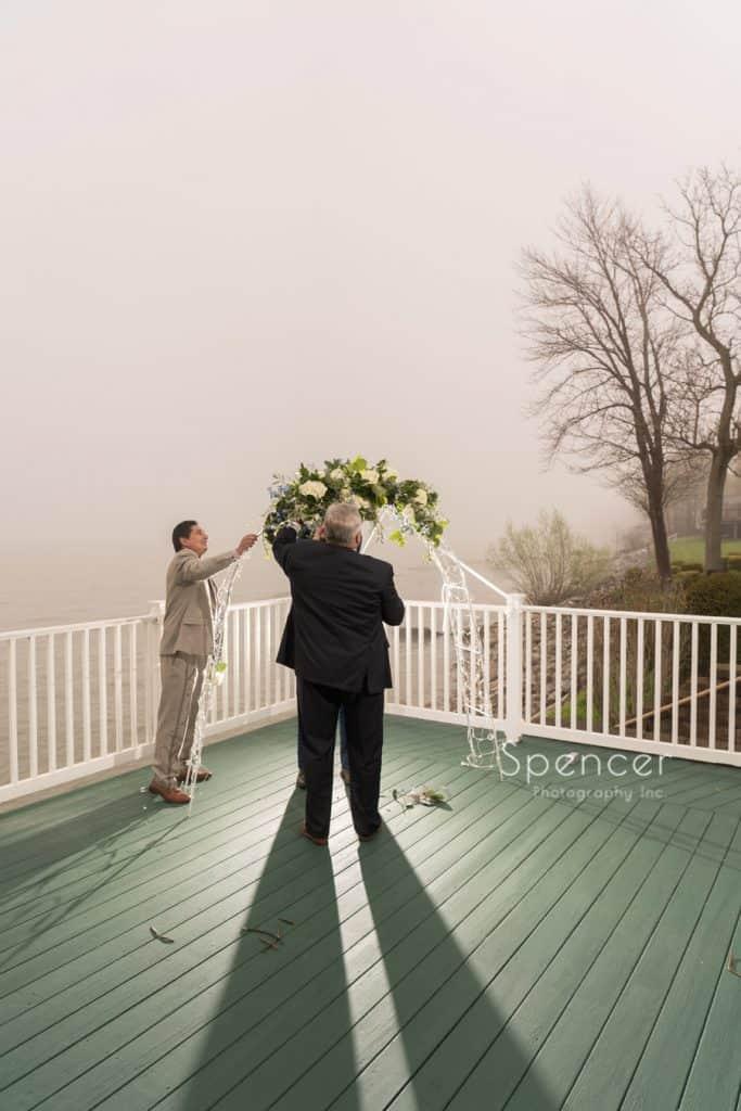 preparing Geneva wedding ceremony