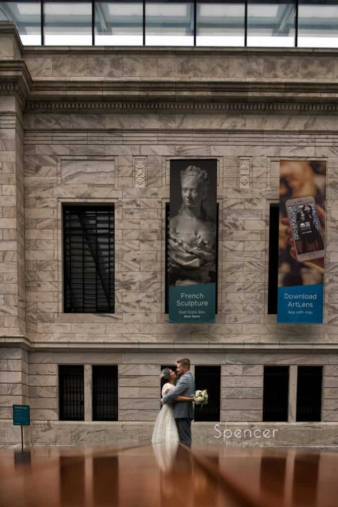 cleveland museum of art wedding picture of bride and groom