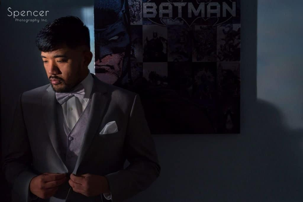 groom portrait by batman picture