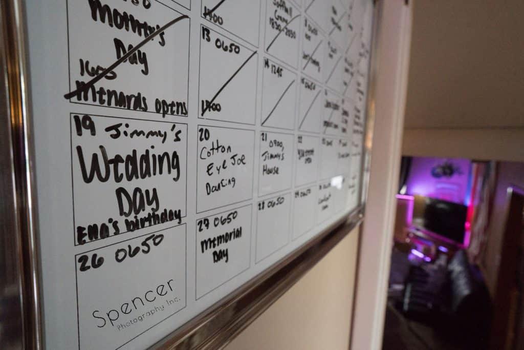 wedding day calendar in Cleveland Ohio