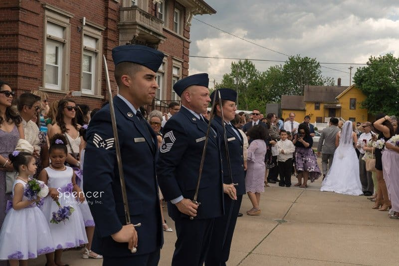 air force honor guard at Cleveland wedding