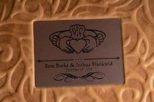 cover detail of custom parent wedding album