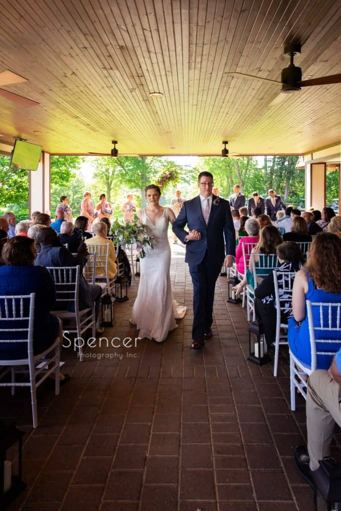 wedding recessional at Columbia Hills Country Club