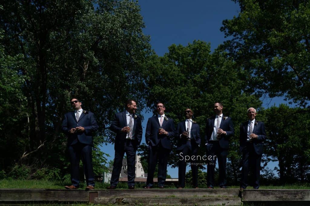 wedding picture of groomsmen Columbia Hills Country Club