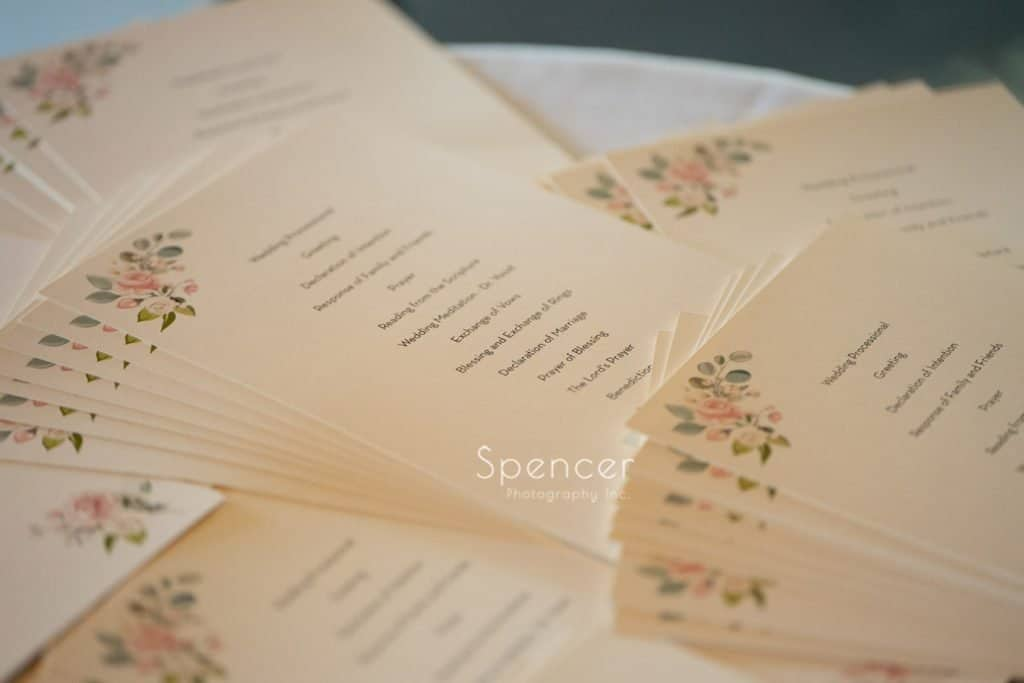 wedding programs at Columbia Hills Country Club