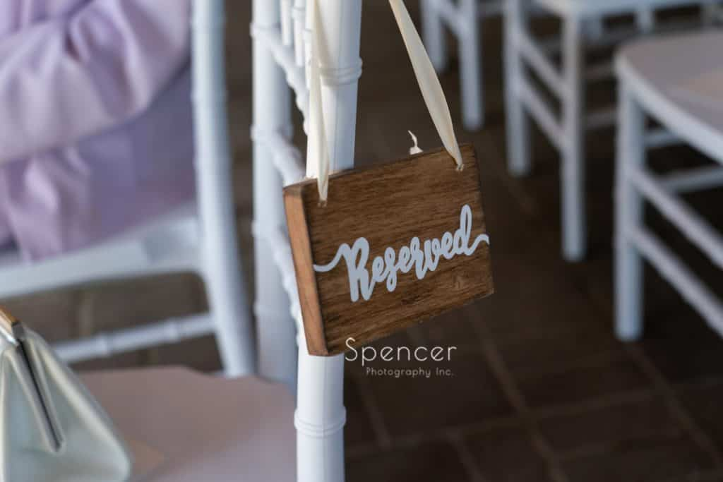 reserved seating at wedding ceremony