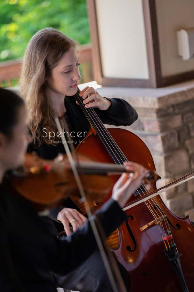string duo at wedding ceremony