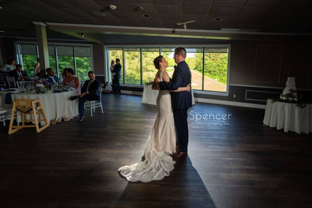 first dance at wedding reception at Columbia Hills