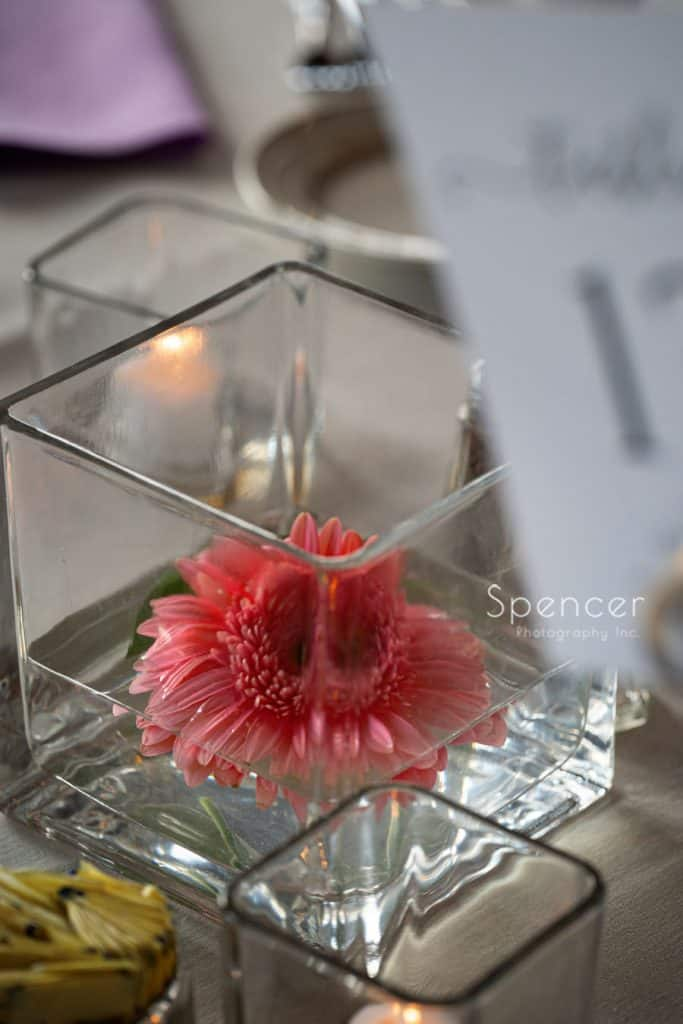 wedding centerpiece at Windows on the River