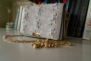 brides handbag for her wedding day