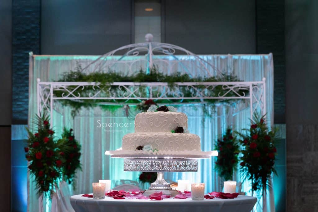 wedding cake at St. Demetrios Banquet Facilities