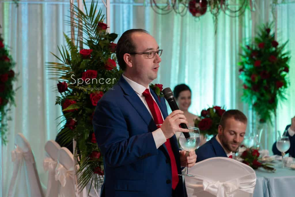 best man giving speech at St. Demetrios