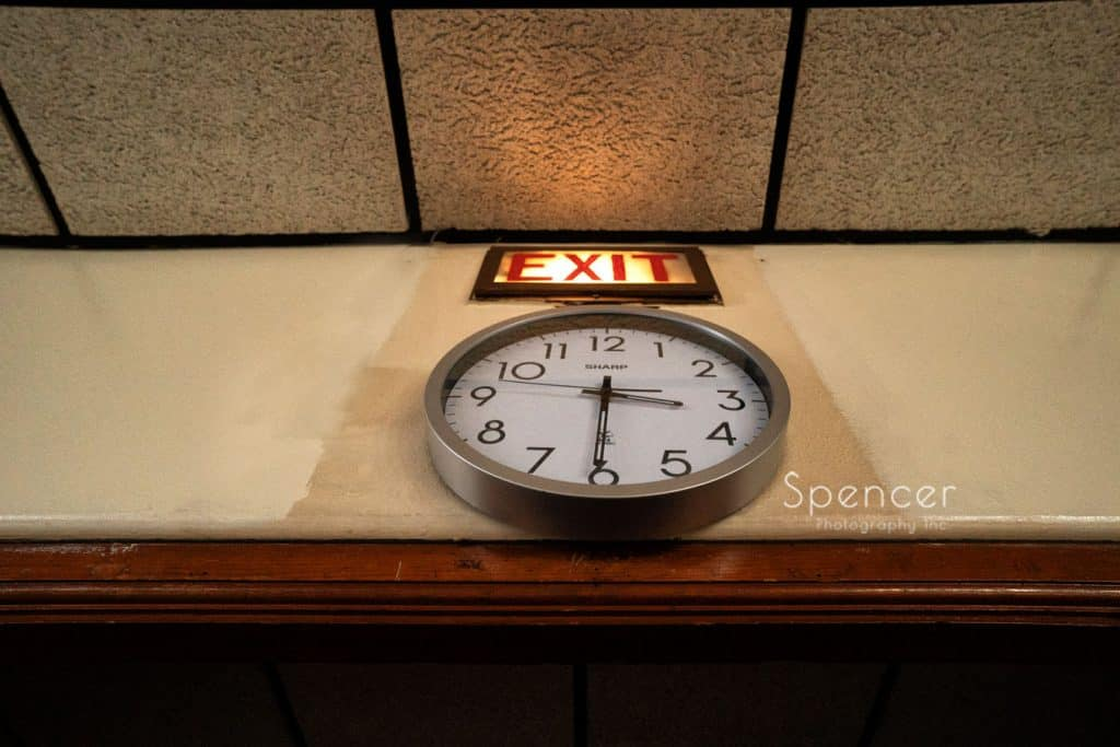 clock on wedding daty at St. Demetrios Warren