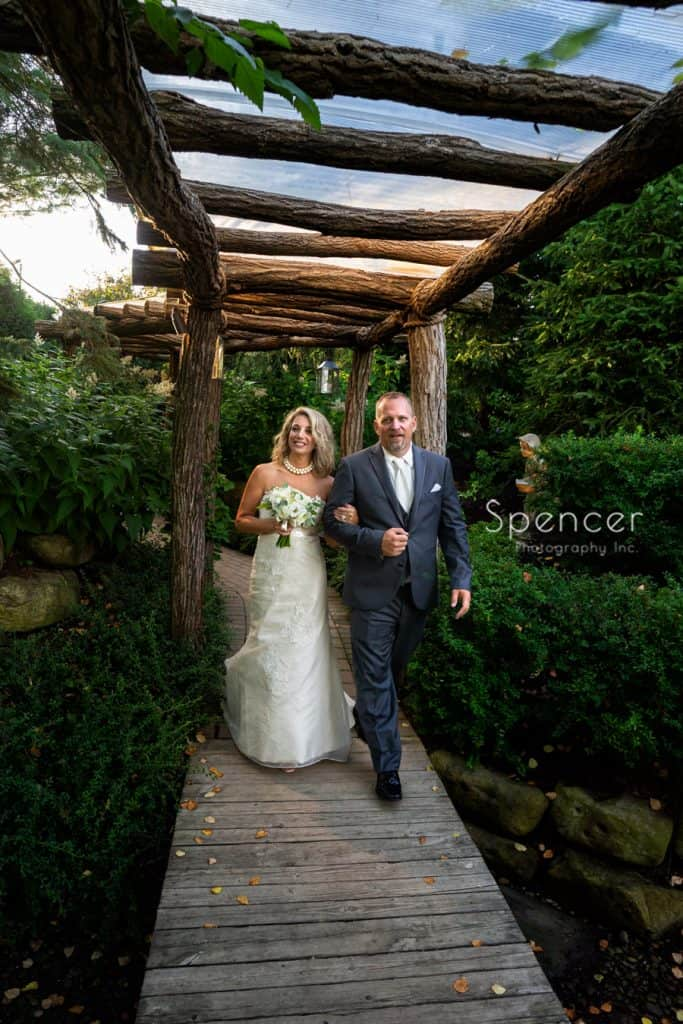 bride and groom enter their wedding reception at Thorncreek Winery
