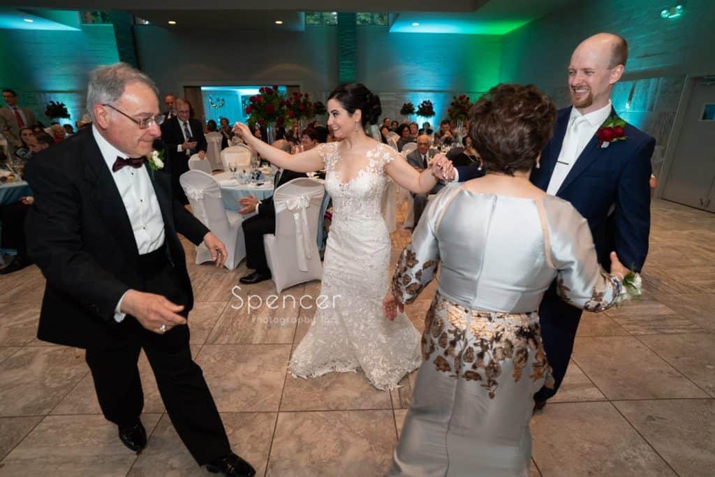 dancing at greek wedding reception