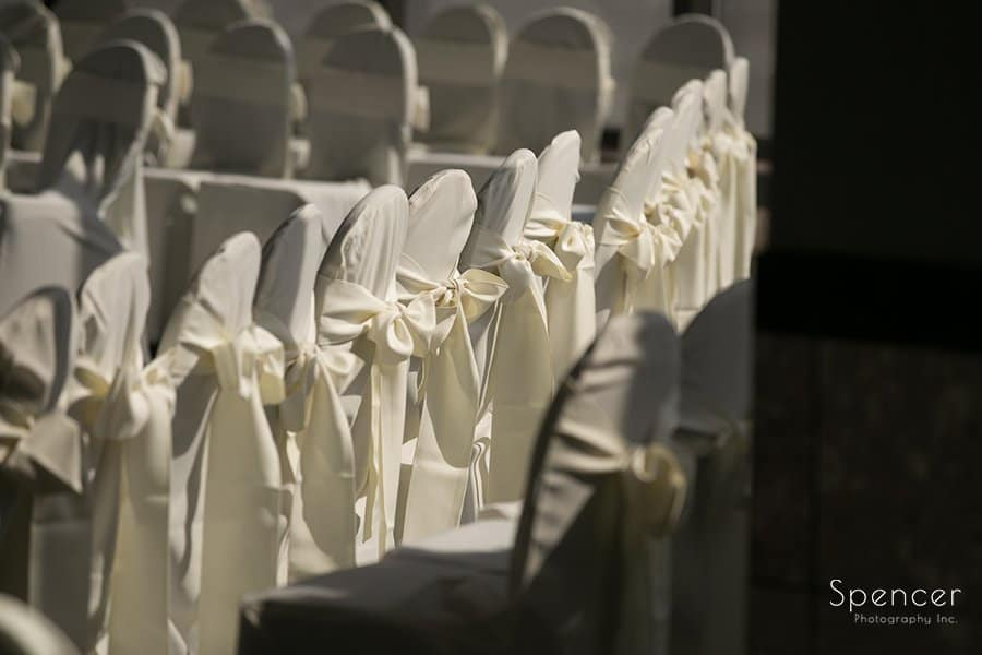 picture of chairs at wedding cermeony at Landerhaven