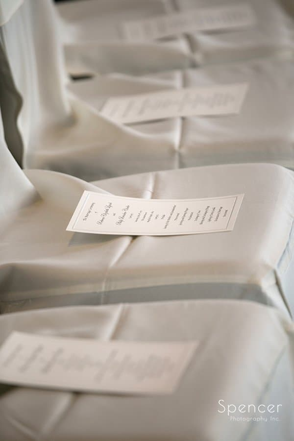 wedding programs at wedding ceremony at Landerhaven