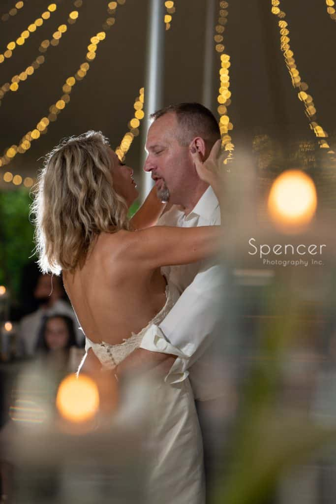 creative wedding reception picture at Thorncreek