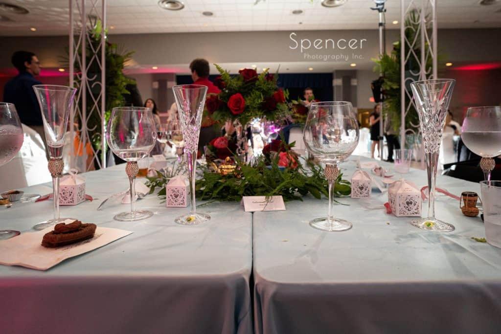 head table at St. Demetrios wedding reception