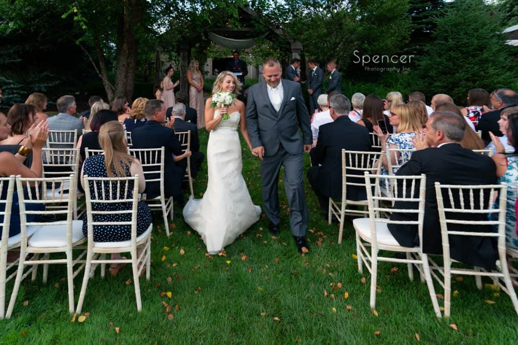 wedding recessional at Thorncreek winery