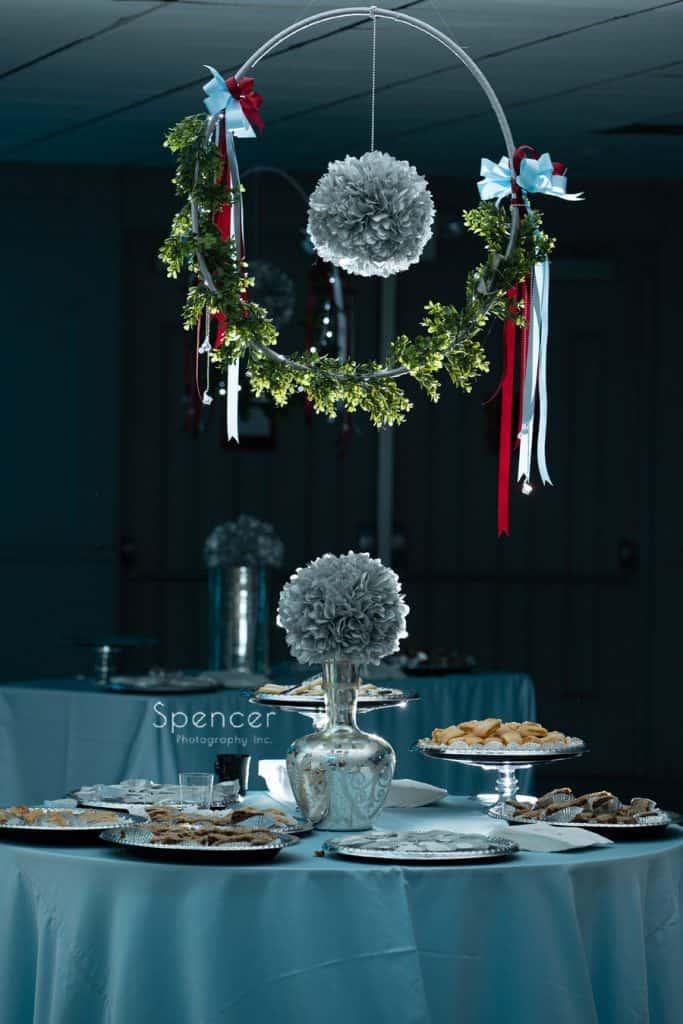 wedding reception cookie room atSt. Demetrios Banquet Facilities