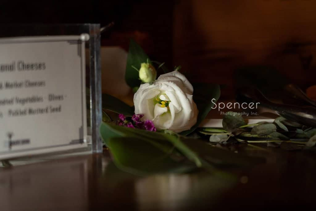 flower by the red twig at Thorncreek Winery reception