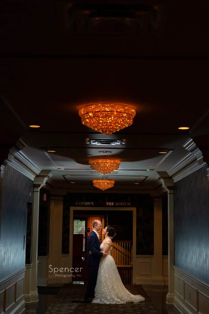 dramatic wedding picture at Avalon Resort and Spa