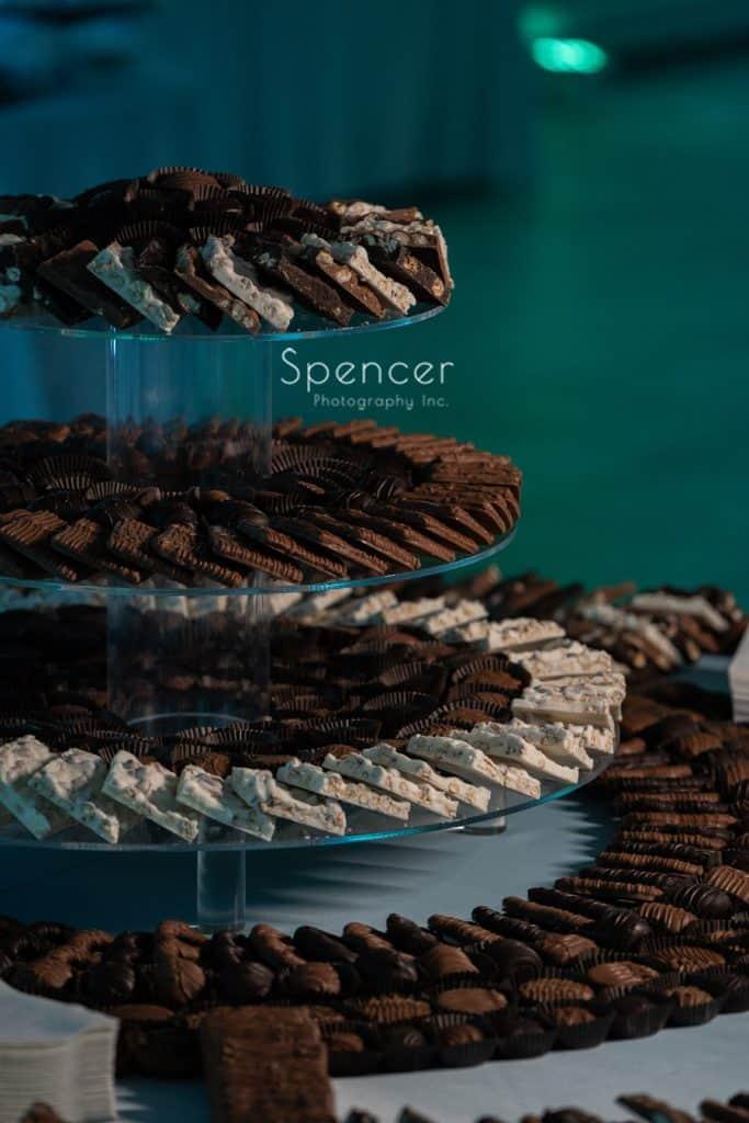 chocolate display at reception at St. Demetrios Banquet Facilities