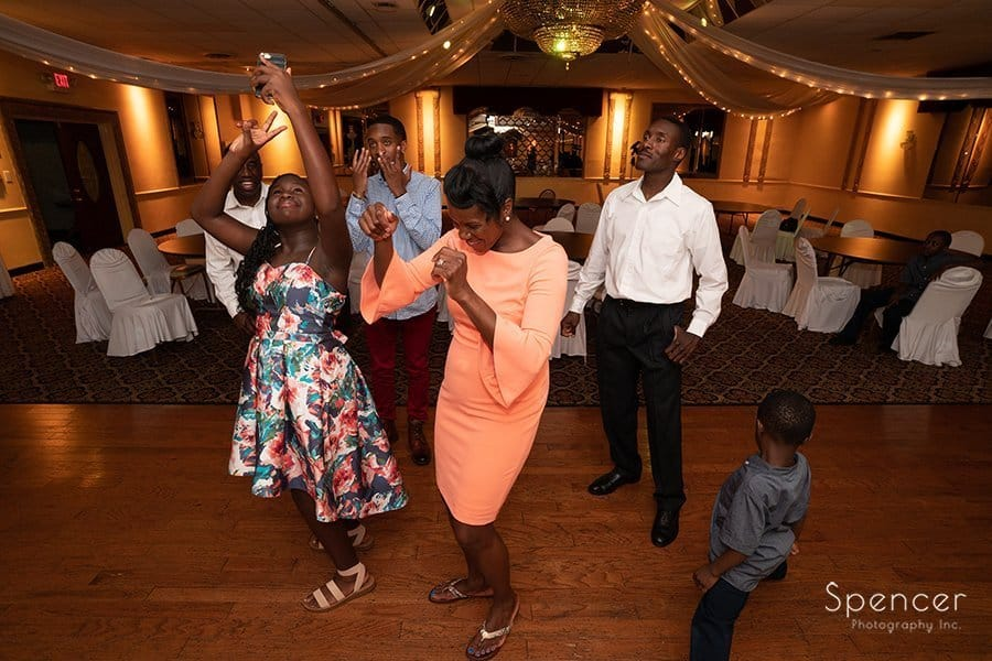 family dances at Sherwin-GIlmore Event Center