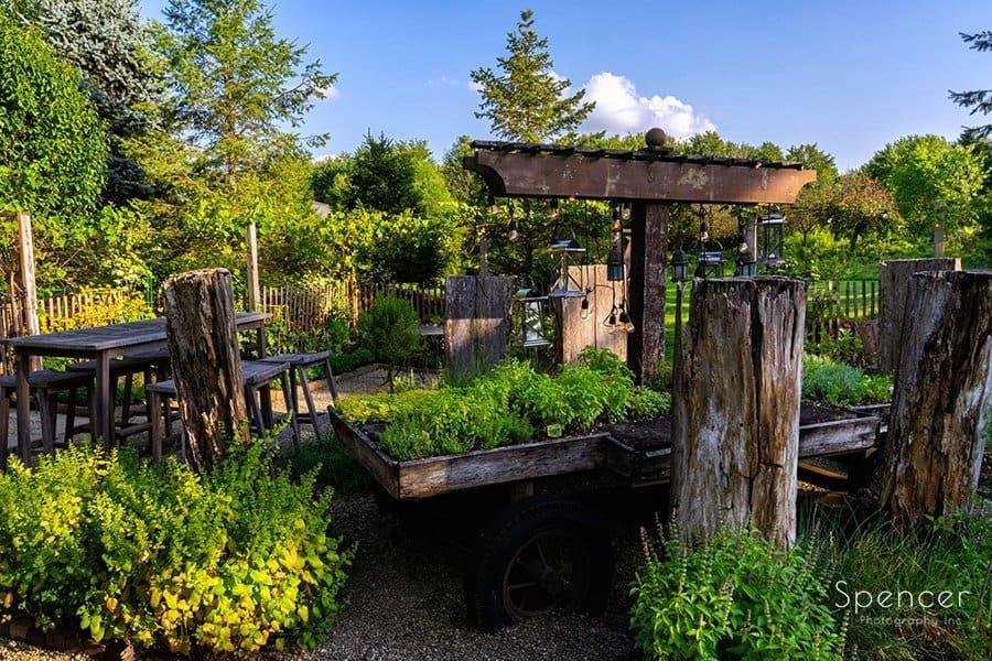 Flower garden at Thorncreek Winery Aurora