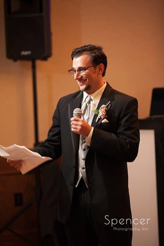 best man speech at Caro's Party Center in Medina