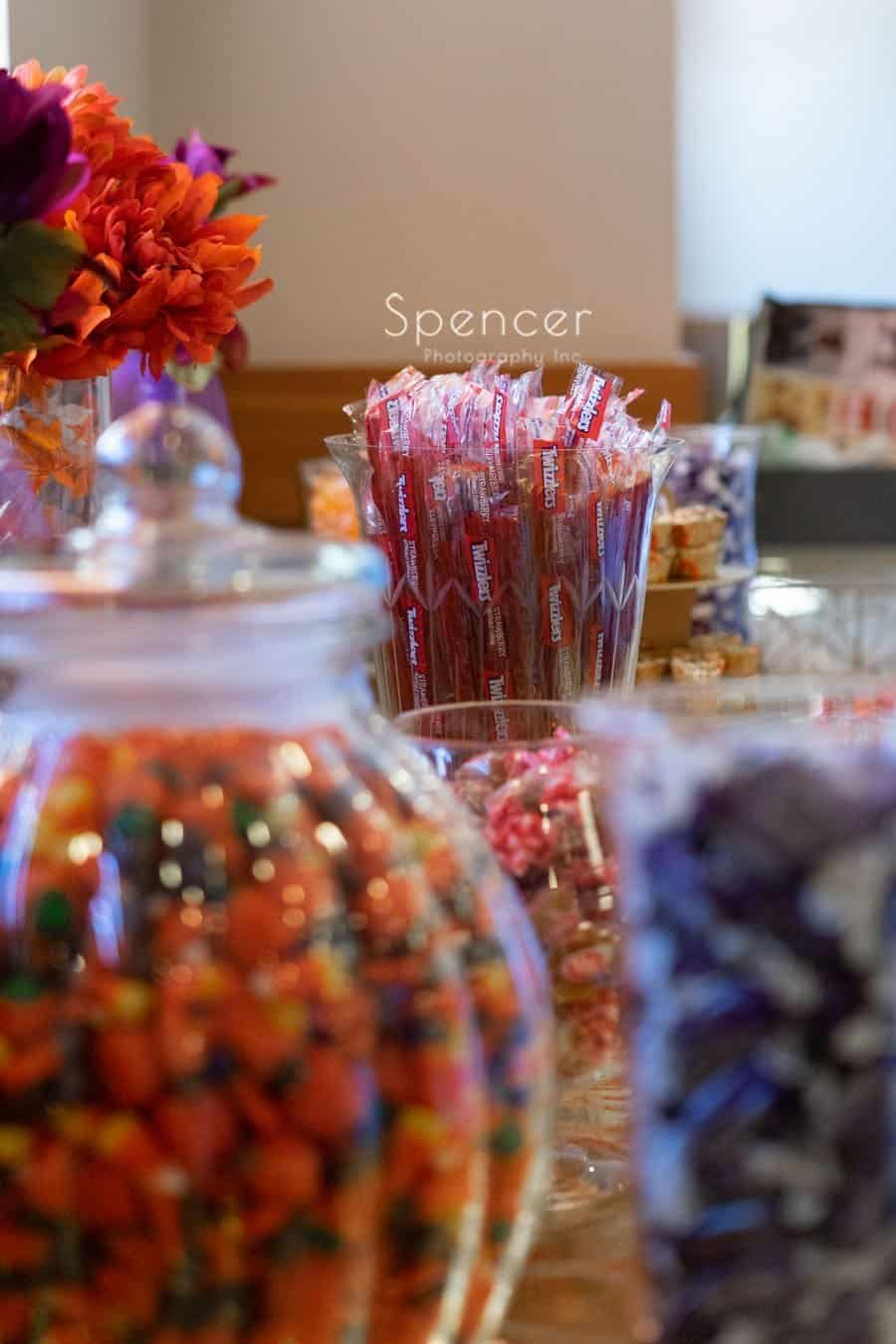 candy table at wedding reception in Oberlin Ohio